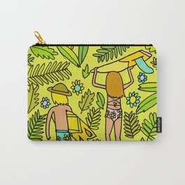 Wander On // Single fin Twin Fin surf art tropical Carry-All Pouch