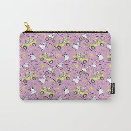Pink Sheep in Cars Carry-All Pouch