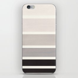 Grey Minimalist Mid Century Modern Color Fields Ombre Watercolor Staggered Squares iPhone Skin