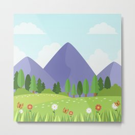 Nature landscape moutain Metal Print