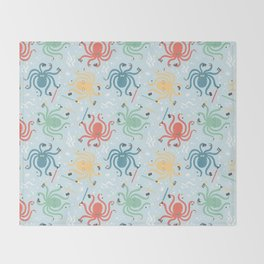 Nerdy Octopuses Throw Blanket