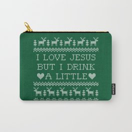 I Love Jesus but I Drink a Little Carry-All Pouch