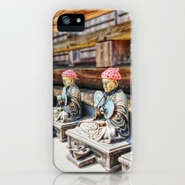 Jizo figures temple Japan iPhone Case