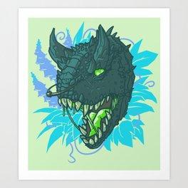 ROTTEN FOXGLOVE Art Print