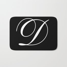 Elegant And Stylish Black And White Monogram D Bath Mat