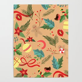 Christmas Pattern 7 Poster