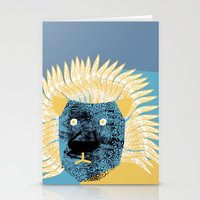 leon Stationery Cards featuring Lion leon by yael frankel
