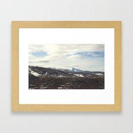 Aspen Mountains Framed Art Print