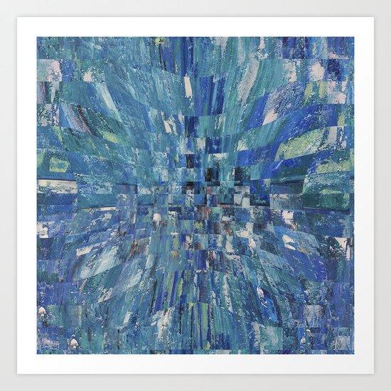 Abstract blue pattern 5 Art Print