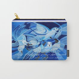 Love, Joy and Peace This Christmas Season Greeting  Carry-All Pouch