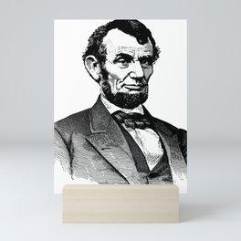 Abraham Lincoln Portrait Illustration Mini Art Print