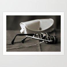 Opera glasses Art Print