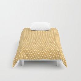 Mustard Chevron Comforters
