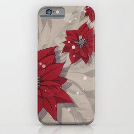 Poinsettias - Christmas flowers | BG Color I iPhone Case