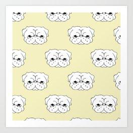 Pug Cringe Face Art Print