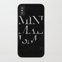 minimalism iPhone & iPod Cases featuring Minimalism by Roni Lagin & Co.