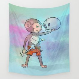 Monkey Pirate Wall Tapestry