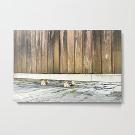 Paws Of A Waiting Bulldog Metal Print