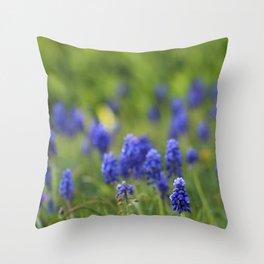 Grape Hyacinth in Spring Throw Pillow