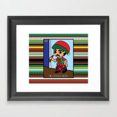 Christmas Loteria El Borracho Framed Art Print