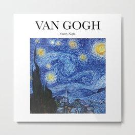 Van Gogh - Starry Night Metal Print