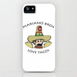 Mariano Bros Love Tacos iPhone Case