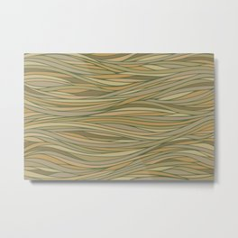 Brown, Tan, and Green Abstract Metal Print