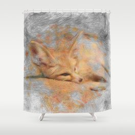 Artistic Animal Fennec Fox Shower Curtain