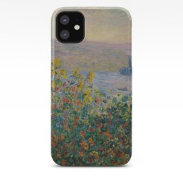 Flower Beds at Vétheuil, Claude Monet iPhone Case