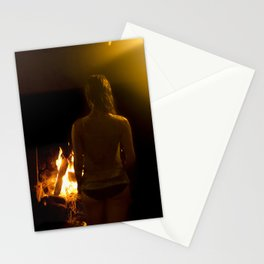 Jouer aver le feu // Playing with Fire Stationery Cards