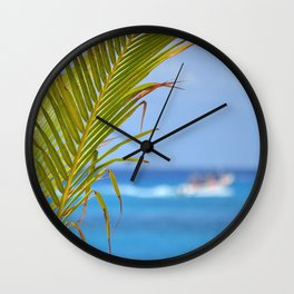 Palm Closeup – Cozumel Wall Clock
