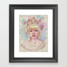 Watercolors and Floral Crowns Framed Art Print
