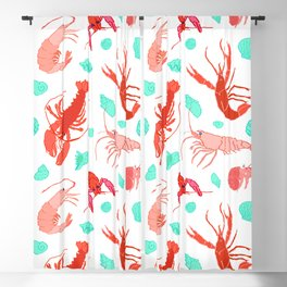 Dance of the Crustaceans in Pearl White Blackout Curtain