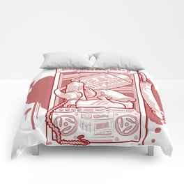 Emergency Hip Hop Red Comforters