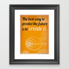 Create The Future Framed Art Print