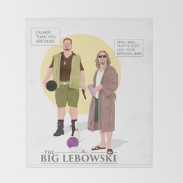 the big lebowski Throw Blanket