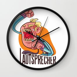Speakers - man shouts Wall Clock