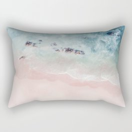 Ocean Pink Blush Rectangular Pillow