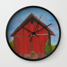 Shelter for the herd Wall Clock
