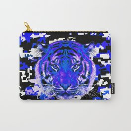 camouflage tiger on blue Carry-All Pouch