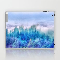 Clouds over pine forest Laptop & iPad Skin