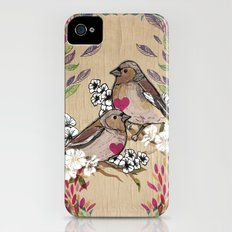 Floral Birds iPhone (4, 4s) Slim Case