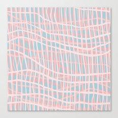 Net Blush Blue Canvas Print