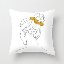 Scrunchie Girl Throw Pillow
