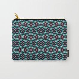 Aqua Diamond Pattern Carry-All Pouch
