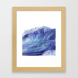 Pacific Waves Framed Art Print