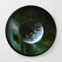 Planet and Black Hole Wall Clock