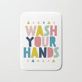 Wash your hand bathroom art Bath Mat