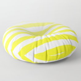 Sun Yellow Handdrawn horizontal Beach Stripes - Mix and Match with Simplicity of Life Floor Pillow