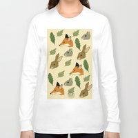 woodland Long Sleeve T-shirts featuring woodland by Melrose Illustrations